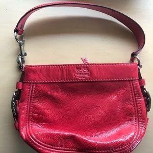 COACH Mini Zoe Shoulder Bag Red Patent Leather